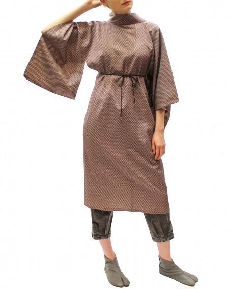 Kimono tunique motif vague