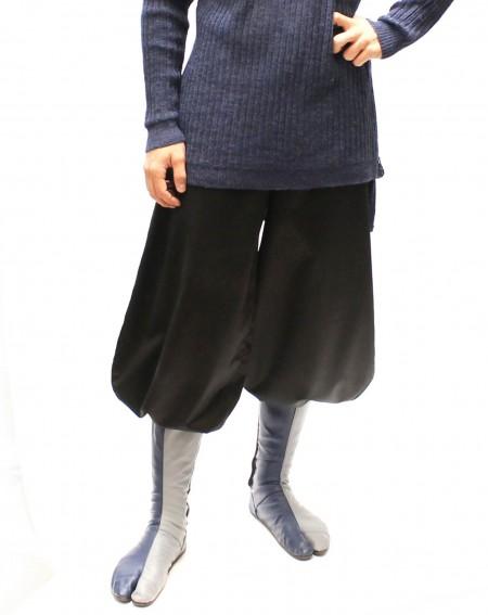 Pantalon Nikka en laine Tatami court