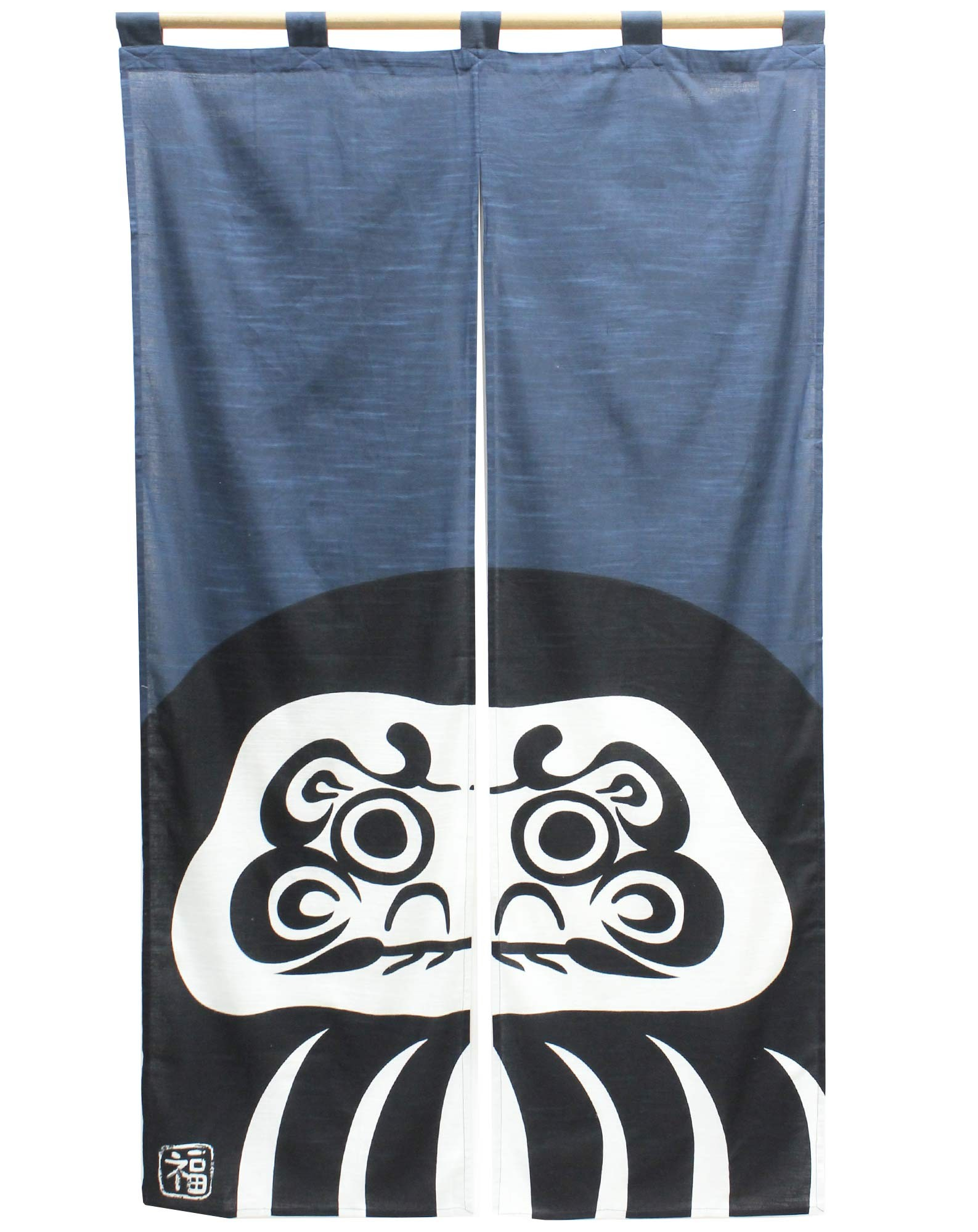 Japanese curtain Noren Daruma