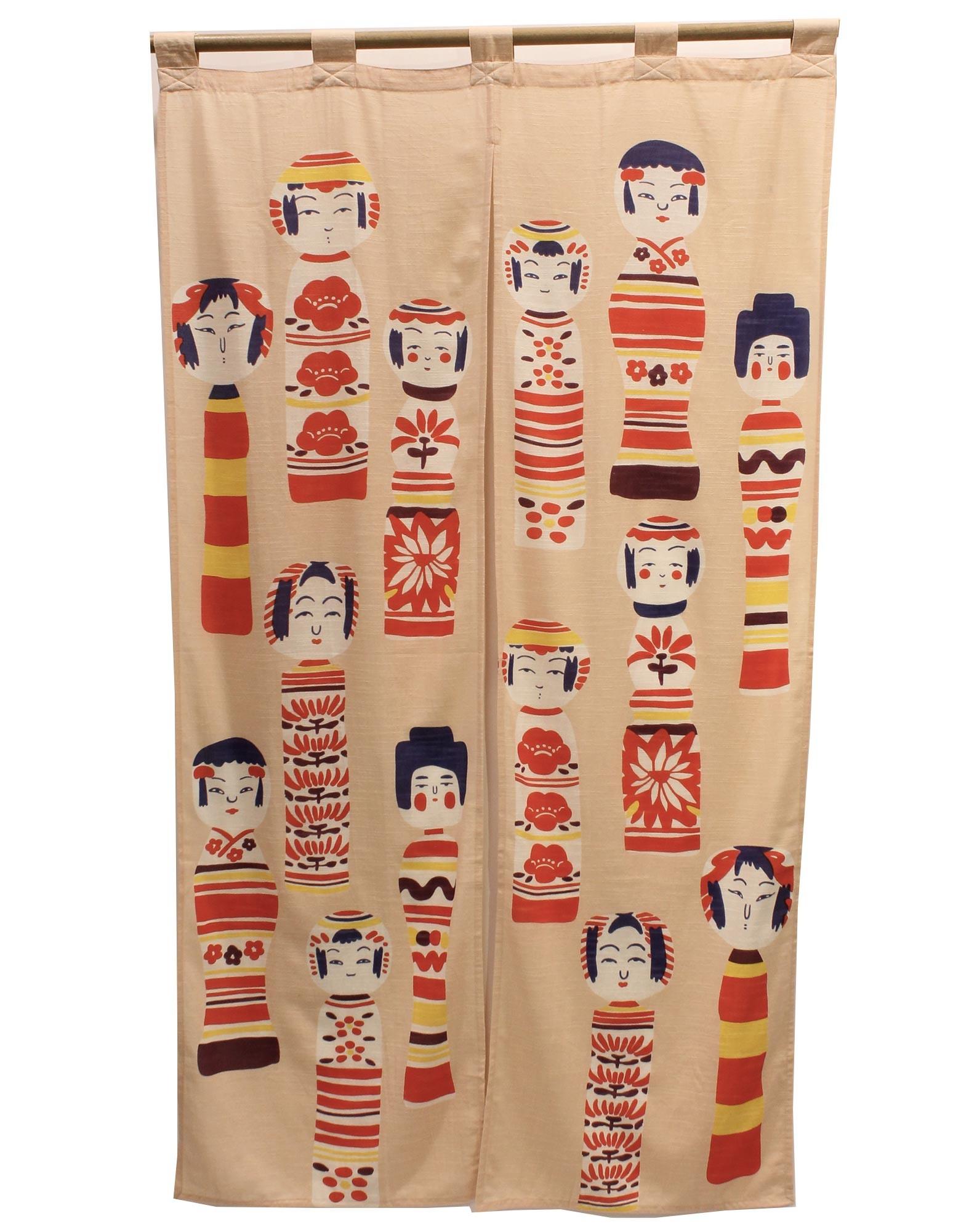 Noren Curtain Kokeshi