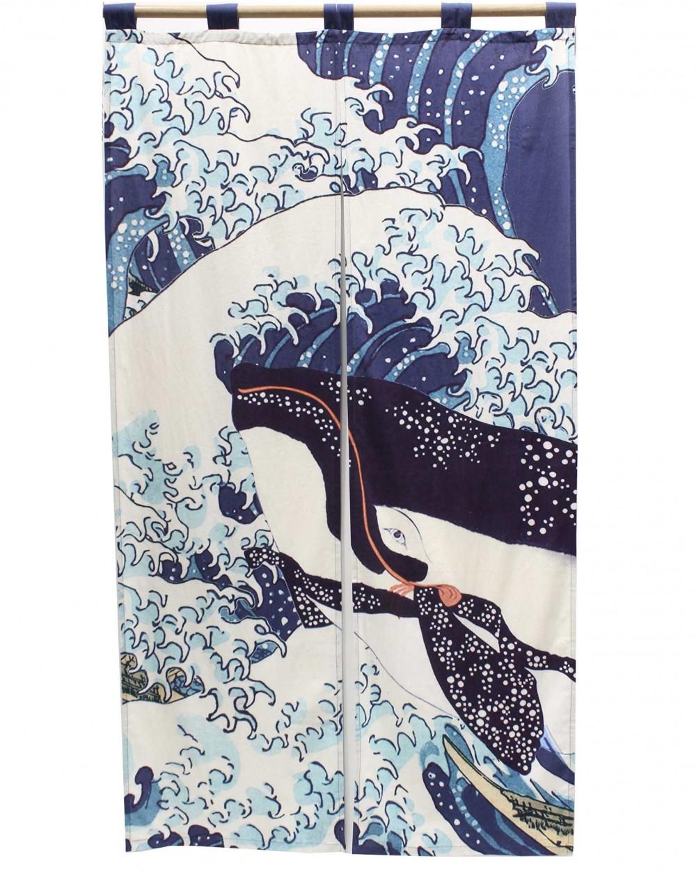 Curtain Noren Ukiyoé Whale