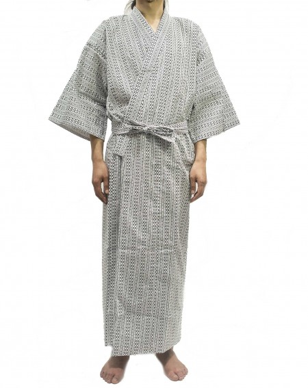 Onemaki, Geometric Cotton Bathrobe