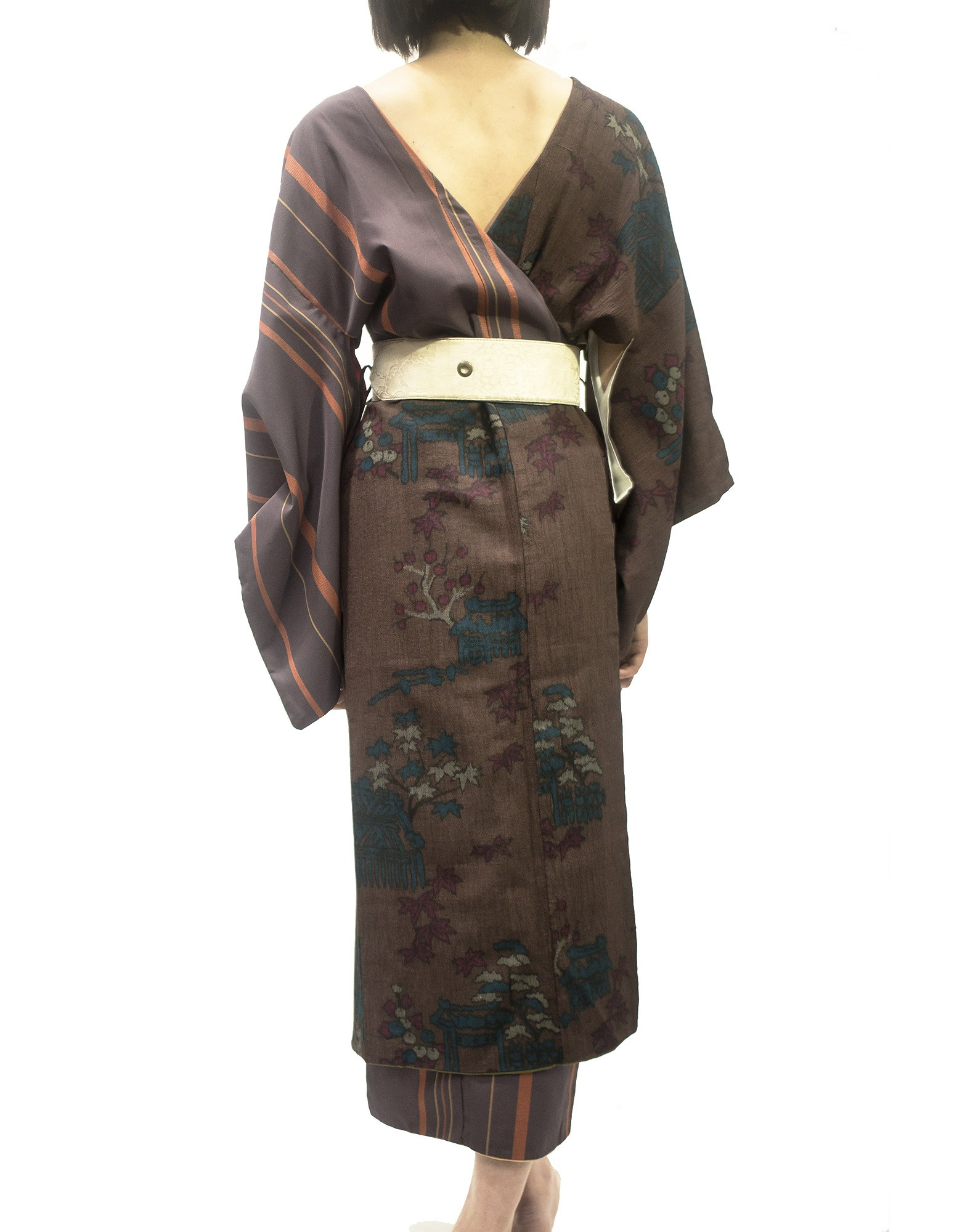 2 in 1 kimono dress