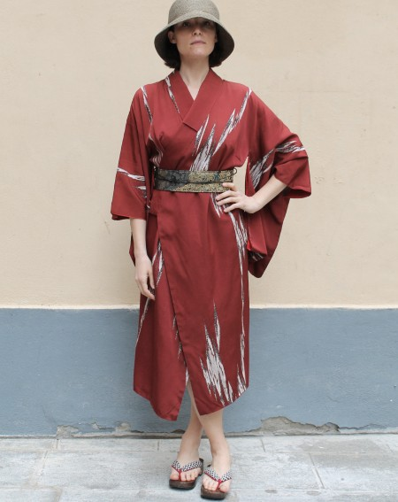 Kimono coat dress