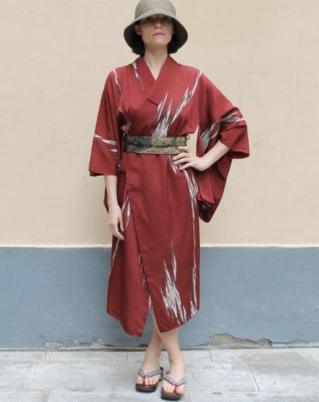 Manteau Robe Kimono Customisé