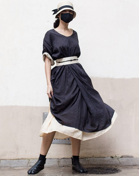 Silk and Cotton 2 in 1 dress