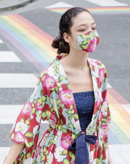Kimono japonais Camélia