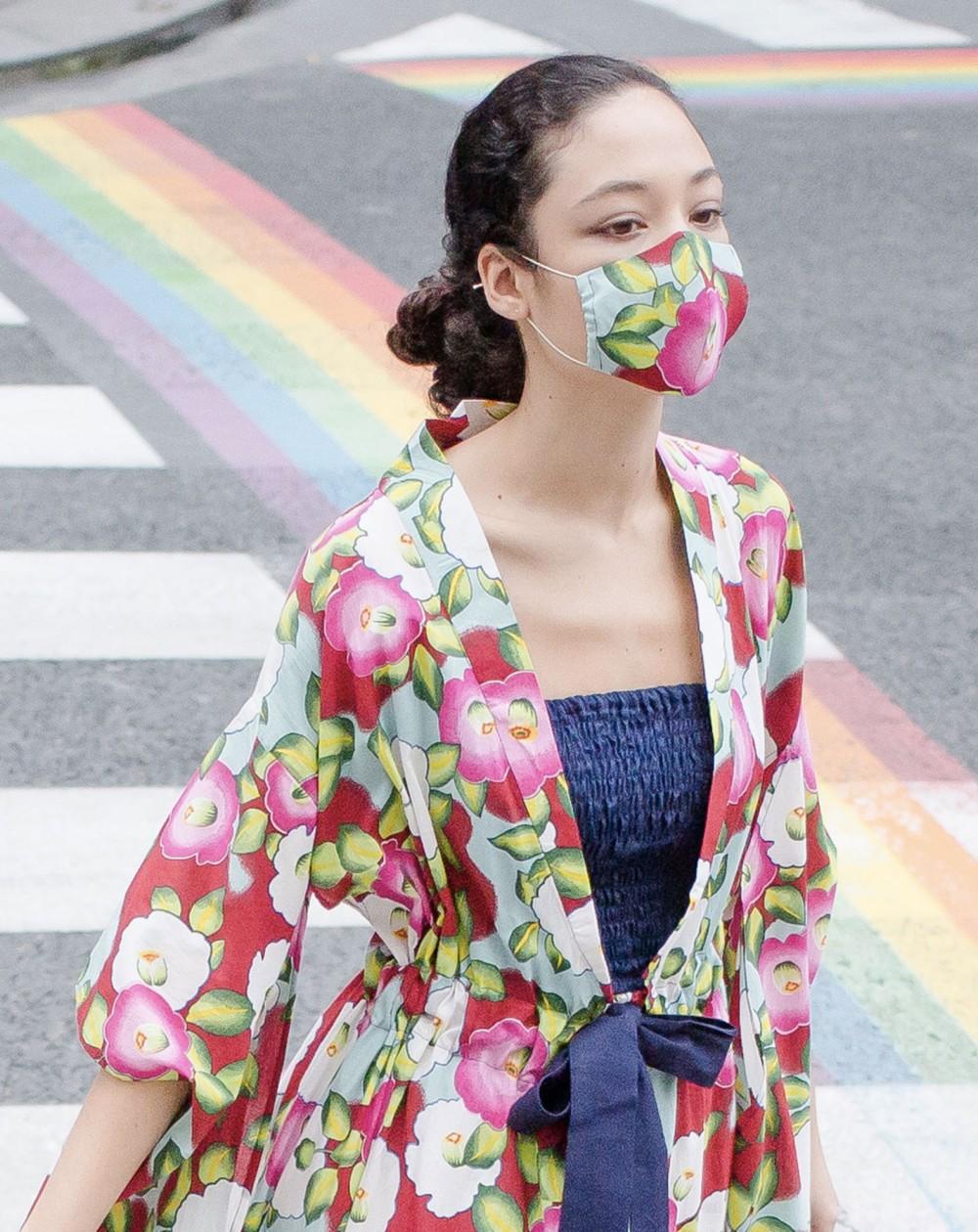 Japanese kimono Camellia