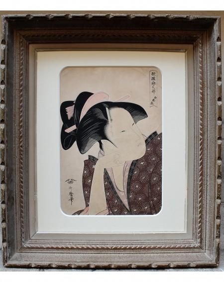 Utamaro: Reflective Love, Japanese print Edo