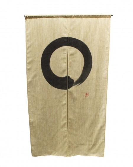 Rideau Japonais Noren, Enso Cercle Ecru