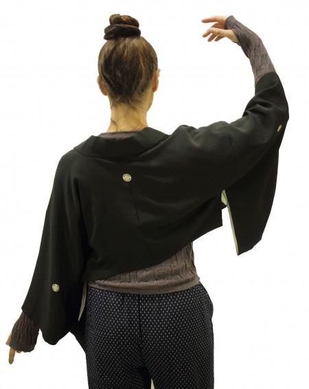 Kimono cache-épaule noir