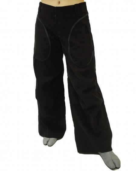 Pantalon velours plis genoux