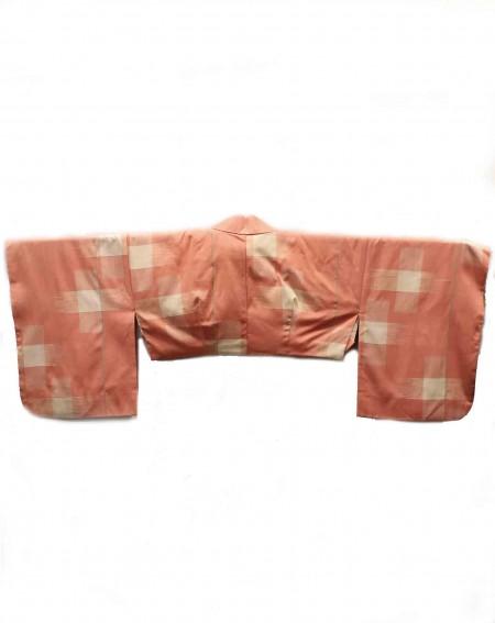 Kimono cache-épaule carreaux orange