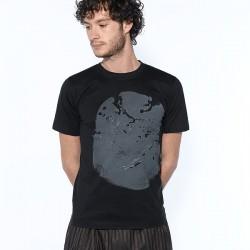 "T-shirt ""Elephant"" - men gray/black"