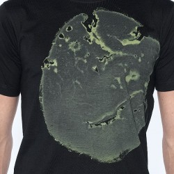 "T-SHIRT ""Elephant""  - men kaki/black"