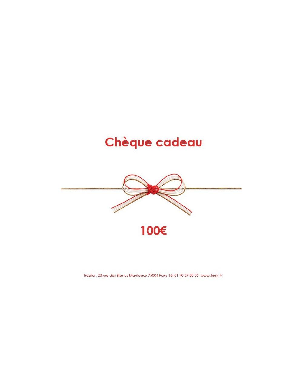 Chèque cadeau 100