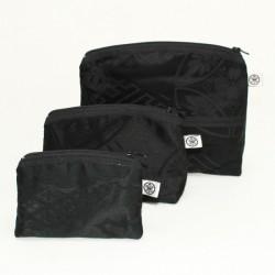 Set of 3 toilet bags black