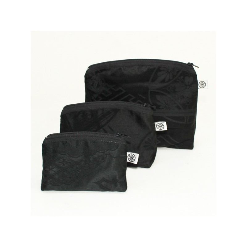 Set of 3 toilet bags black