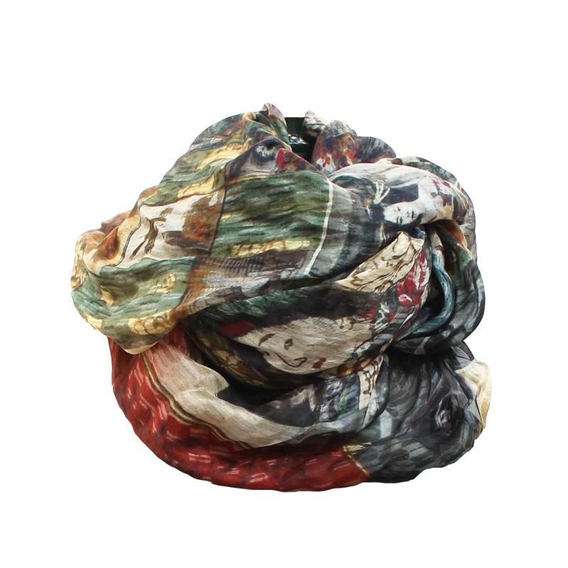 Silk scarf Geisha