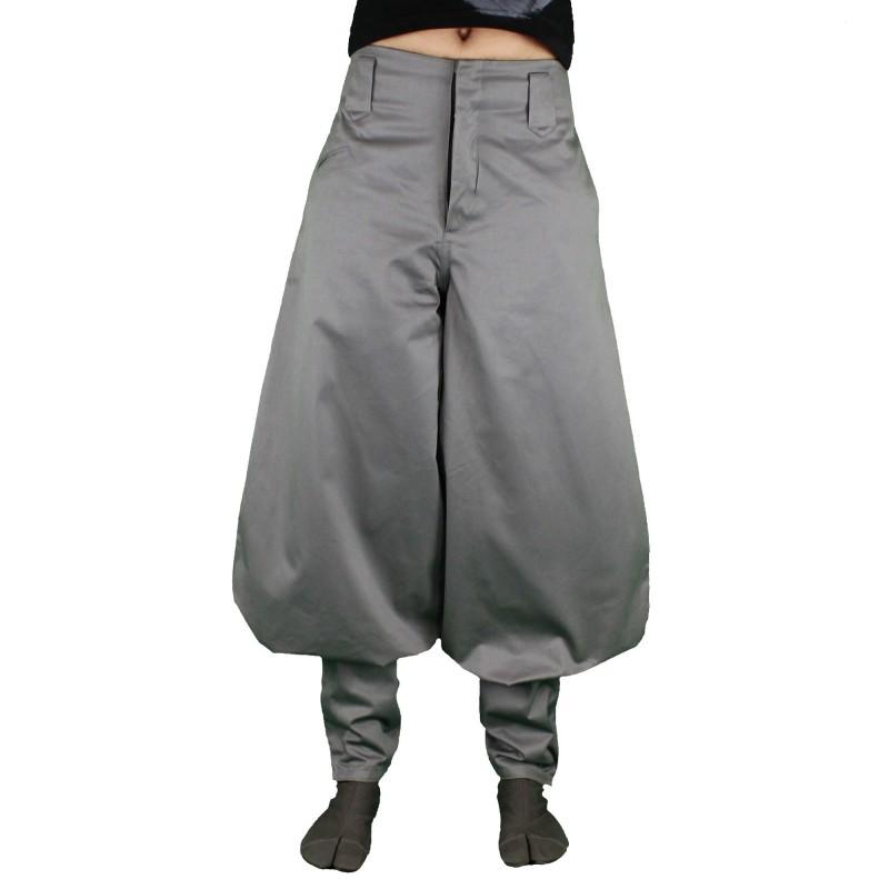 Nikka pantalon gris & bleu