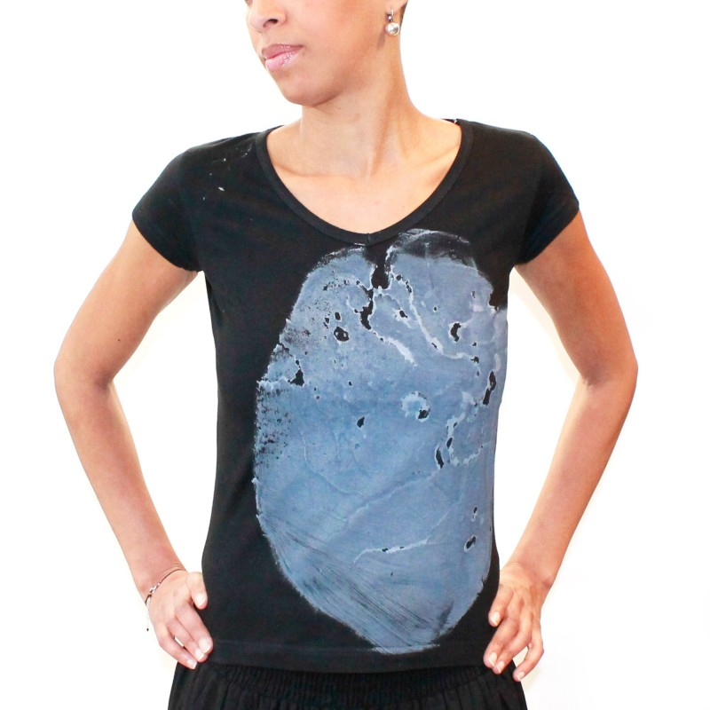 T-SHIRT- women gray/black