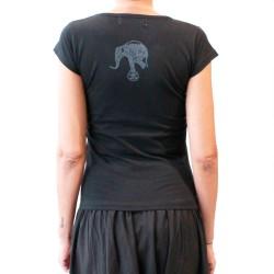 "T-SHIRT ""Elephant""  - femme gris/noir"