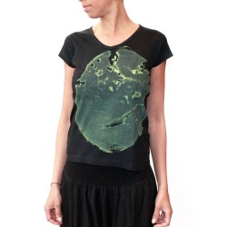 "T-SHIRT ""Elephant""  - women kaki/black"