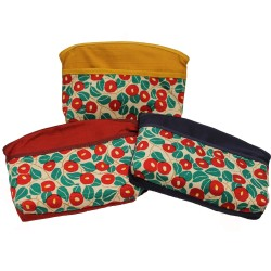 Camelia zipped pouch