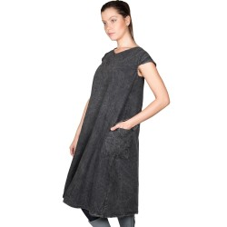 Robe tablier stone wash