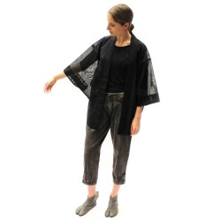 Haori black transparent