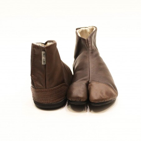 Bottines japonaises Uba-marron