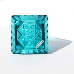 SQUARE RING CRYSTAL COLORED