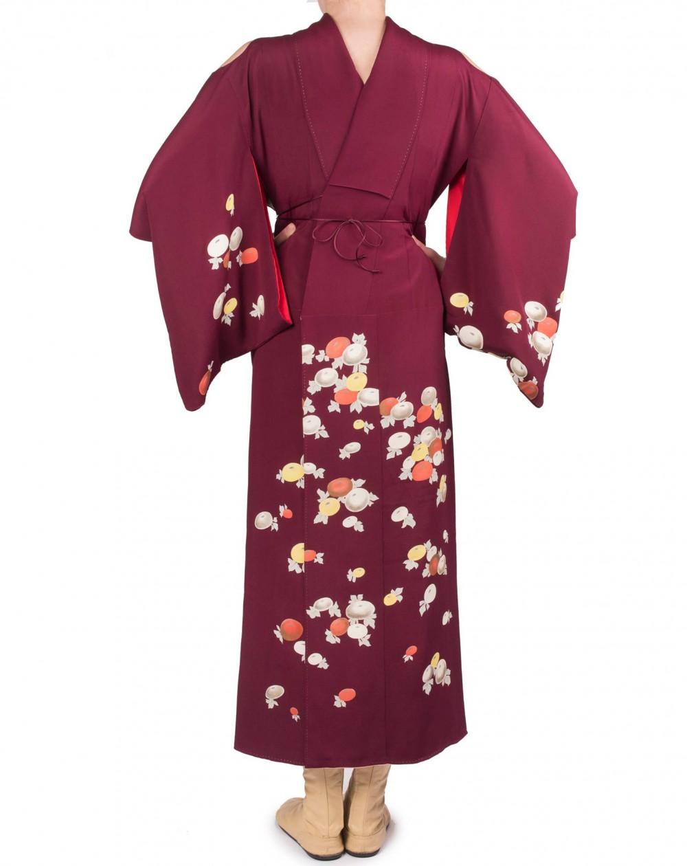 Robe kimono épaules nues