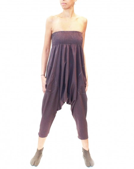 Cotton harem salopet pants