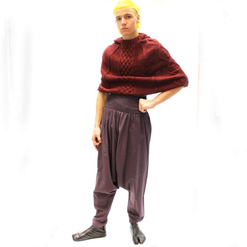 Sarouel en coton avec poche