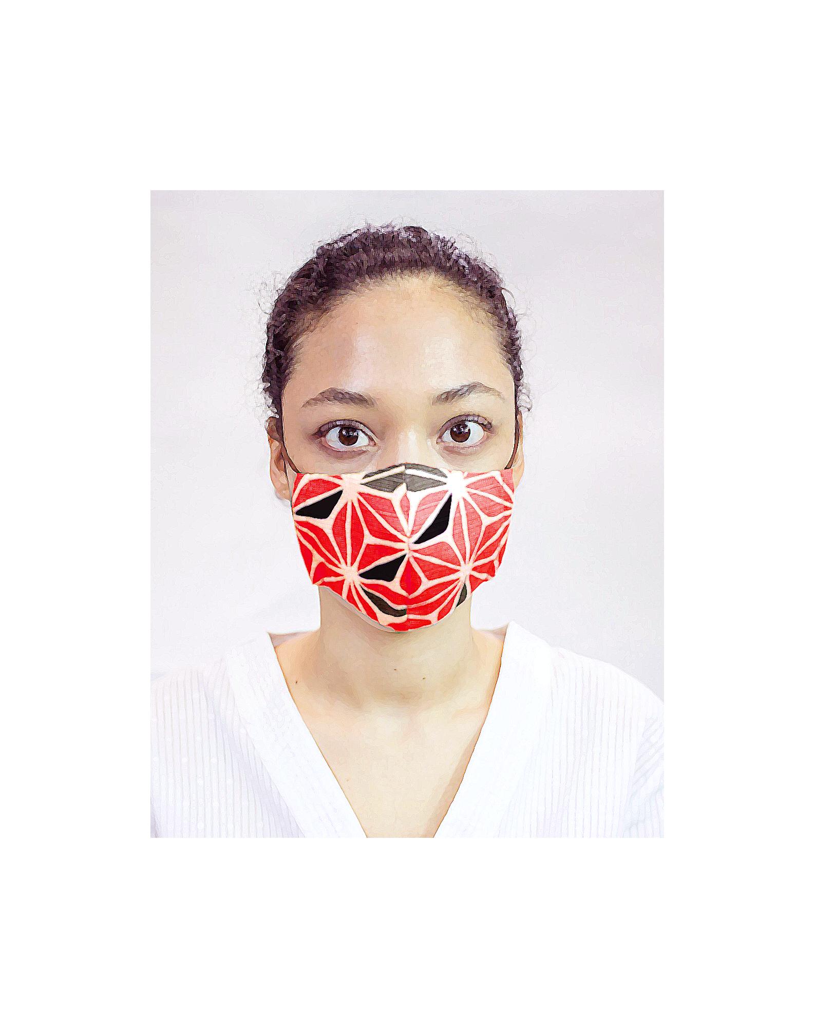 Masque de protection moulins à vent rouges