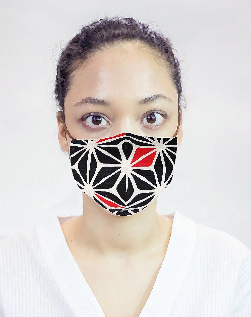 Masque de protection moulins à vent noirs