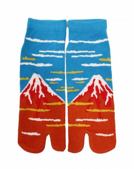 Tabi Fuji rouge