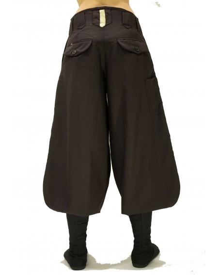Pantalon Nikka mi-long en laine Tatami