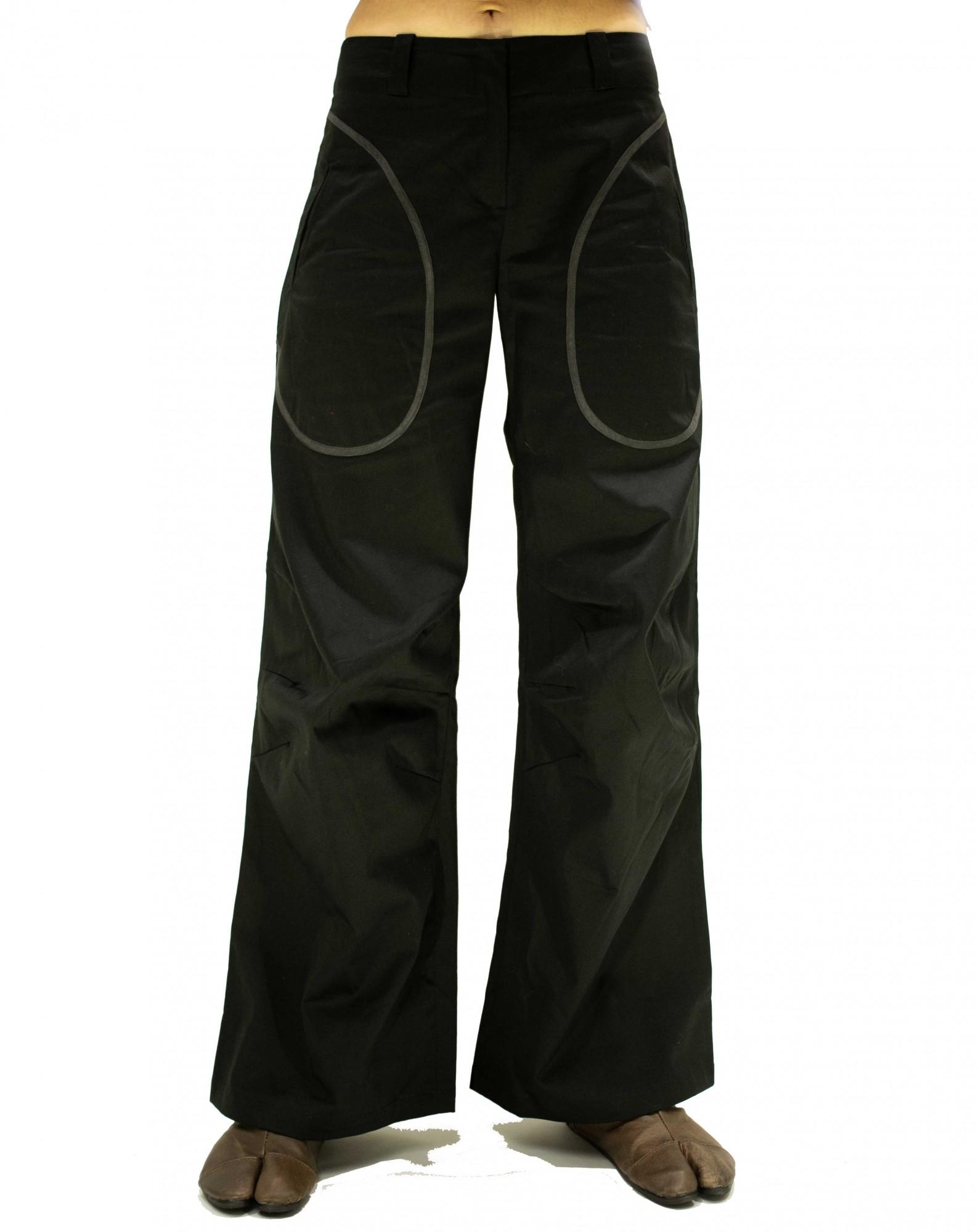 Pants fold knees