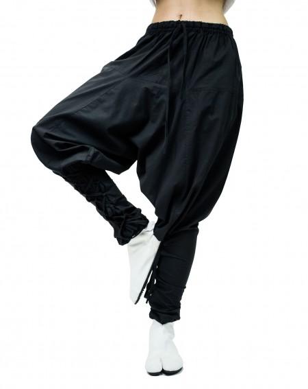 Pantalon Sarouel ajustable en Coton