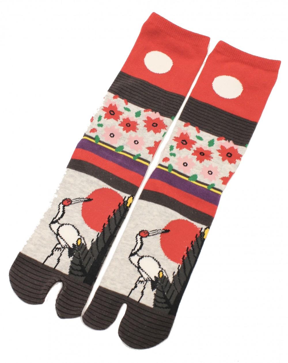 TABI hight socks Hanafuda