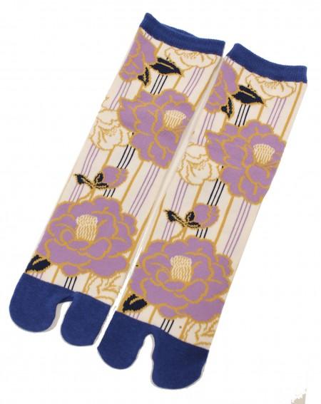 TABI Camellia blue socks