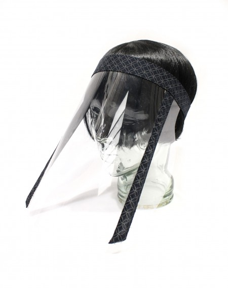Protective visor shield for meals classic pattern