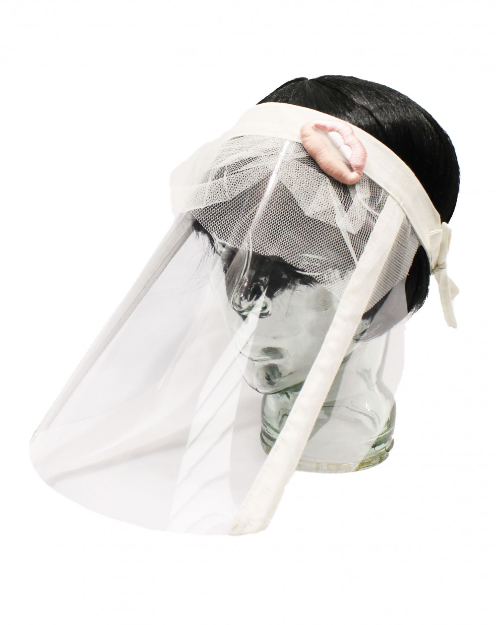Protective visor shield for meals Lips